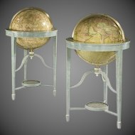 Contemporary library floor-standing globes