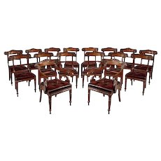 Dining Chairs in Mahogany, Set of 16