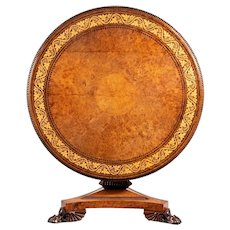 A George IV tilt-top centre table by George Bullock