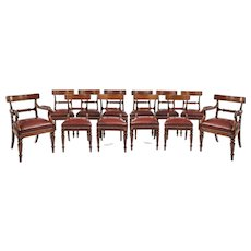 A fine set of 12 Gillows mahogany dining chairs