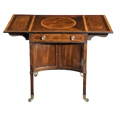 A George III Chippendale-style satinwood Pembroke table