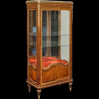 A kingwood display cabinet by Haentges Frères