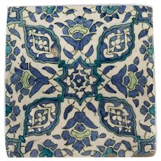 An Ottoman Empire Damascus square tile late 16th century