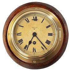 A Smiths Astral brass bulkhead clock