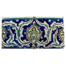 An Ottoman Empire Damascus border tile, late 16th century
