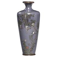 Japanese cloisonne vase, Meiji period (Japan, c. 1900)