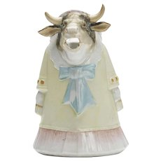 Antique Continental Cow Character Cream Jug 19th C.