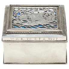 Omar Ramsden Arts & Crafts Silver And Enamel Box 1926