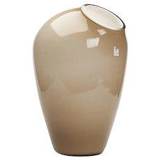 Large Vintage Schott Zweisel Overlay Glass Vase 20th C.