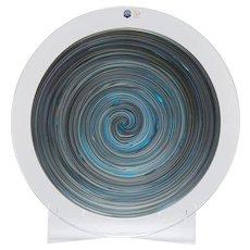 Italian Murano Gino Cenedese Signed Swirl Design Art Glass Charger