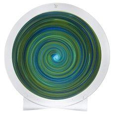 Italian Murano Gino Cenedese Signed Art Glass Charger
