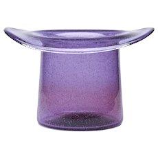 Murano Barovier & Toso Amethyst Glass Top Hat Vase C.1975