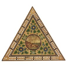 Georgian Triangular Painted Cribbage Board C.1800