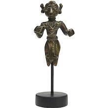 Antique Indian Mounted Bronze Deity Figure 18th C.