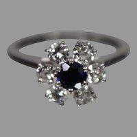 JABEL 18K White Gold Diamond & Sapphire Ring -- w/ Independent Appraisal - Nice!