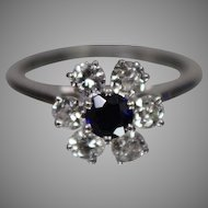 JABEL 18K White Gold Diamond & Sapphire Ring -- w/ Independent Appraisal - Nice!