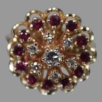 JAYLEN 14K Yellow Gold Diamond & Ruby Ring w/ Independent Appraisal - Very Nice!