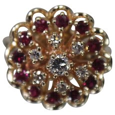JAYLEN 14K Yellow Gold Diamond & Ruby Ring w/ Independent Appraisal - Very Nice!