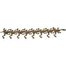 """14KT Yellow Gold Frog Bracelet - Signed TT - 8"""""""