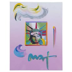 Peter Max (American b.1937) Liberty Head (2009) Mixed Media
