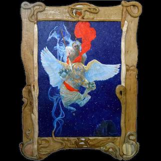 "Philip Harlequin Palmer (British b.1963) ""Chimera"" Acrylic on canvas"