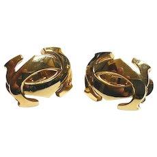 Cartier signature double C logo 18K gold large clips