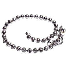 Cartier Tennis bracelet 18K white gold and diamonds set in balls