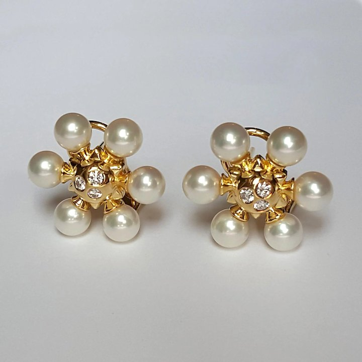 akoya america pearl with earring mikimoto diamonds cultured categories earrings classic elegance
