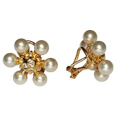 Mikimoto Snowflake pearl earrings