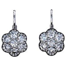Diamond floret earrings