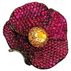 """""""Poppy Flower"""" ring"""