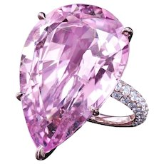 35.75 ct Pink morganite with micro pave