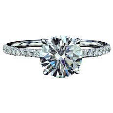1.66 carat European cut diamond ring