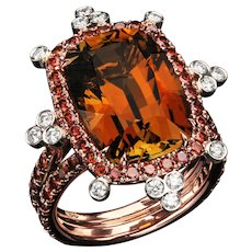 Honey Tourmaline ring
