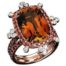 Honey Tourmaline ring