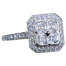 Place Vendome™ ring with asscher cut diamonds