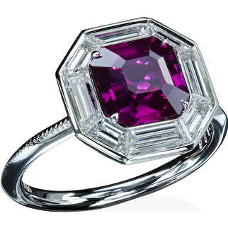 Natural hot-pink sapphire ring r7626