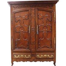 18th Century Antique French Oak armoire.                         Louis XV period.