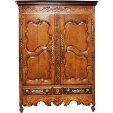 18th Century Antique French Oak Armoire Louis XV style
