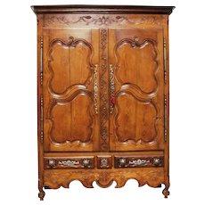 18th Century Antique French Oak Armoire Louis XV style