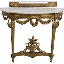 18th Century French Louis XVI period giltwood Console Table