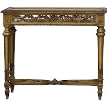19th Century French Antique giltwood showcase