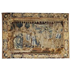 Early 17th Century Antique wool and silk Aubusson tapestry