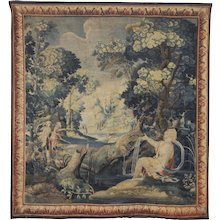 18th Century Antique wool and silk Flanders tapestry