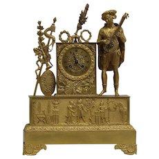 Early 19th Century Ormolu French Empire mantel clock