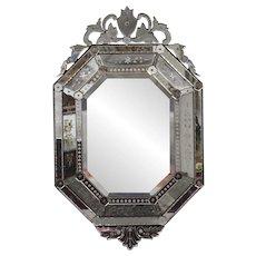 19th Century Antique Venetian Murano Wall Mirror