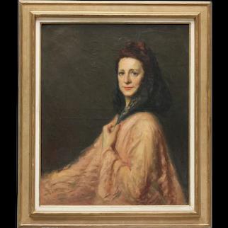 Woman in a mantilla by Pio SANTINI (Italian, 1908-1984)