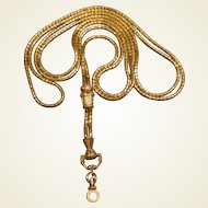 Long Georgian 18K Gold Guard Chain