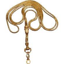 Long Georgian 18K Gold Guard Chain