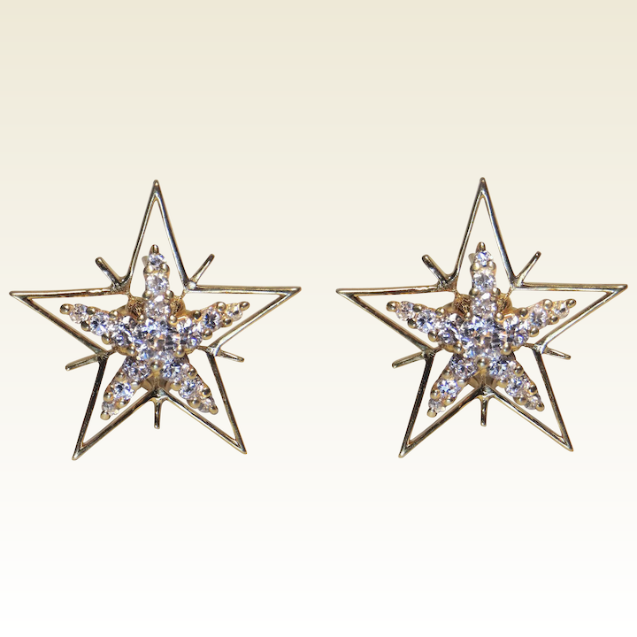 e91ba5ba0e787 Diamond & 18K Yellow Gold Star Earrings